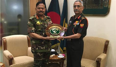 Top Indian military officer visits Bangladesh, discusses