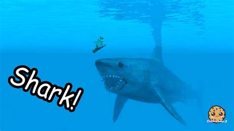 Giant Shark On Boat + Swimming In Water - Roblox Cookie