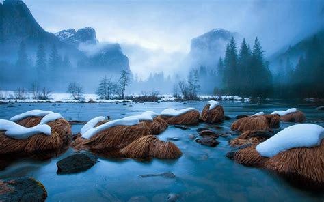 Winter Wallpaper With Frozen Lake And Snow : Wallpapers13
