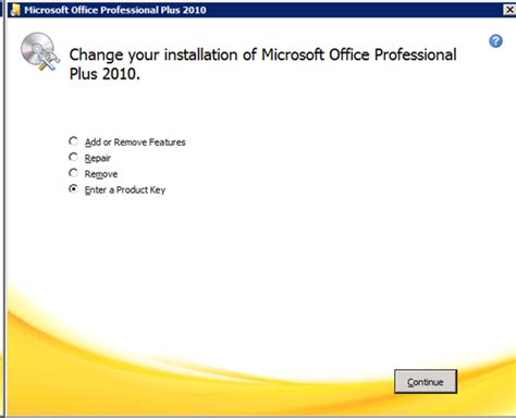Microsoft Office Plus 2010 cannot verify the license for