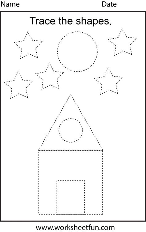 Free printable preschool worksheets - This one is trace